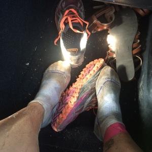 Mud caked through socks!